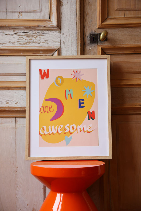 Affiche Women are awesome elise Chalmin