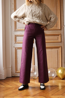 Pantalon Gilbert prune