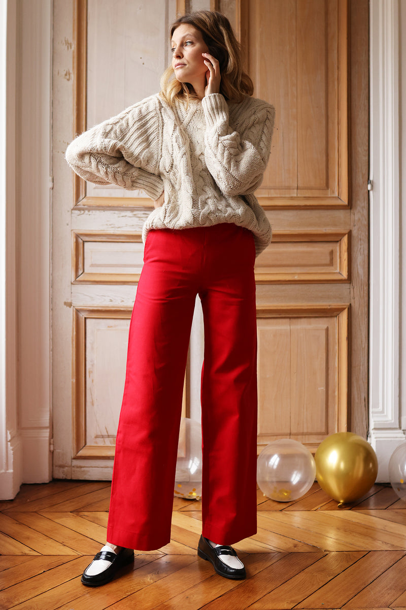 Pantalon Gilbert rouge