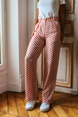 Pantalon en soie Tilda imprimé Sweet Made in France Elise Chalmin