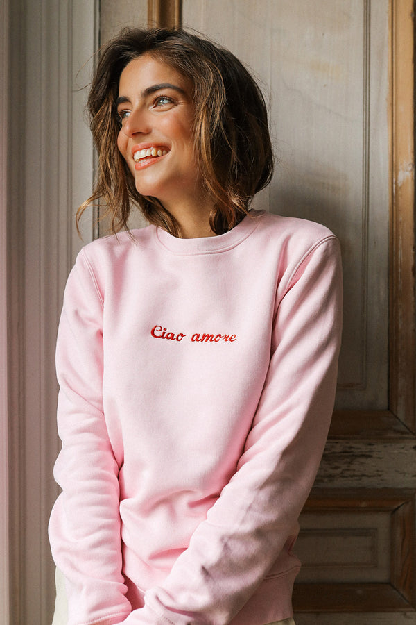 Sweat-shirt brodé Ciao Amore
