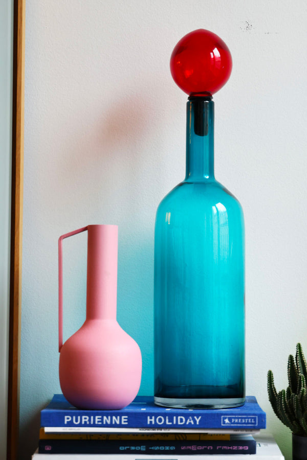Grand vase bubble bleu et rouge pols potten elise chalmin lifestyle