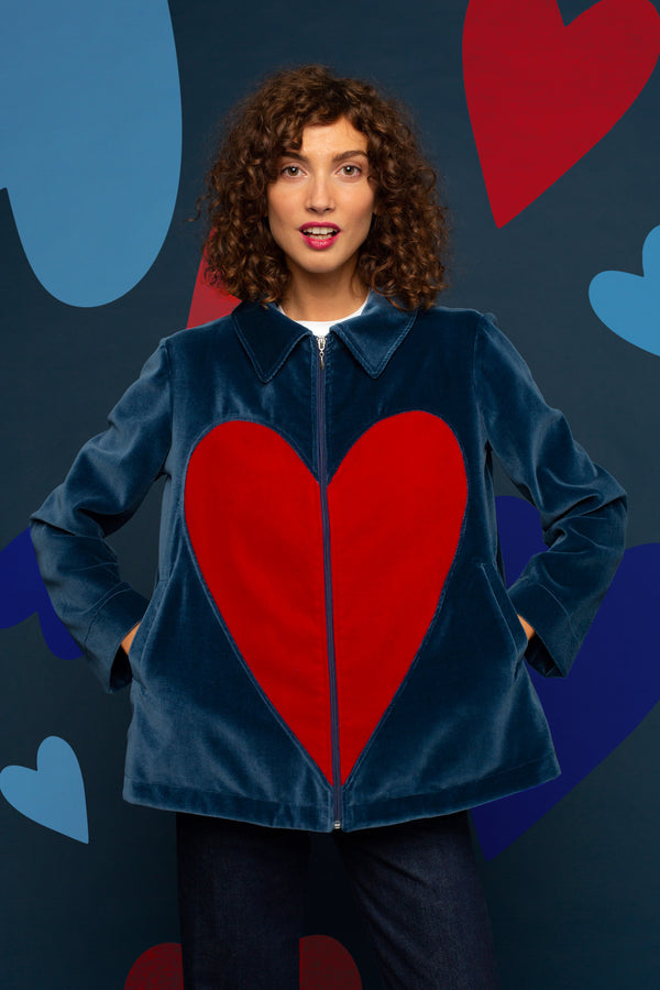 La veste en velours Love