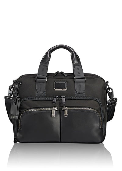 Tumi Alpha Bravo Albany Slim Commuter Brief - London Luggage