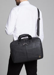 "Brompton Classic Newbury 15"" Single Zip Leather Briefcase"