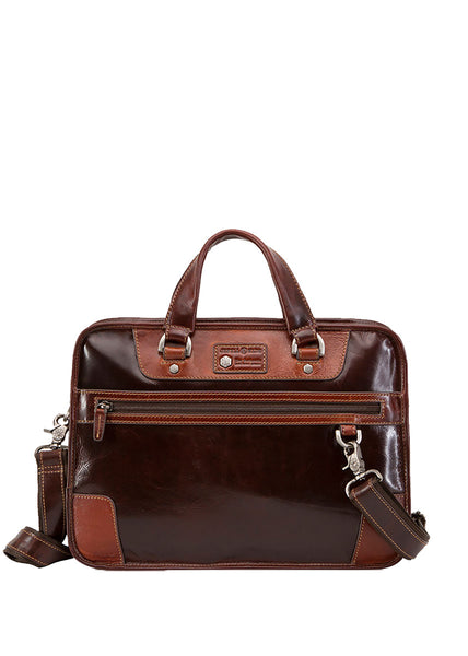 "Jekyll & Hide Oxford 15"" RFID Laptop Brief - London Luggage"