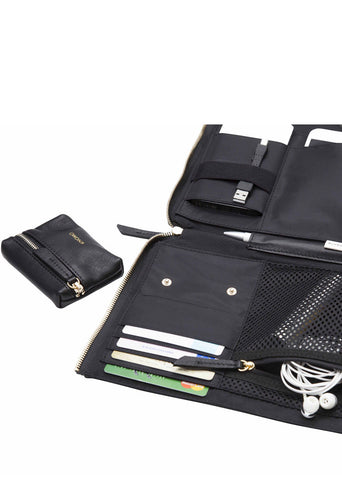 "Knomo Mayfair Luxe Elektronista 10"" Leather Digital Clutch Bag - London Luggage"
