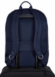 "Knomo Mayfair Beaufort 15.6"" Laptop Backpack Navy - London Luggage"