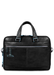 Piquadro Portfolio computer briefcase Black - London Luggage
