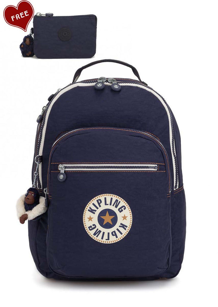 Kipling Clas Seoul Large Laptop backpack - Active Blue - London Luggage