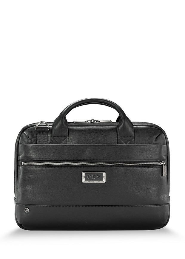Briggs & Riley @Work Leather Slim Brief - London Luggage