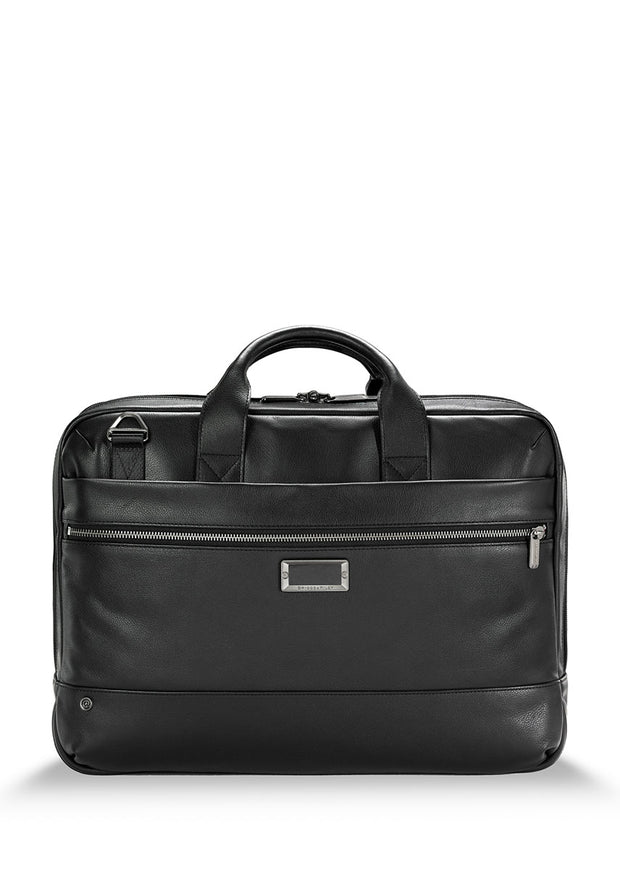 Briggs & Riley @Work Medium Leather Brief - London Luggage
