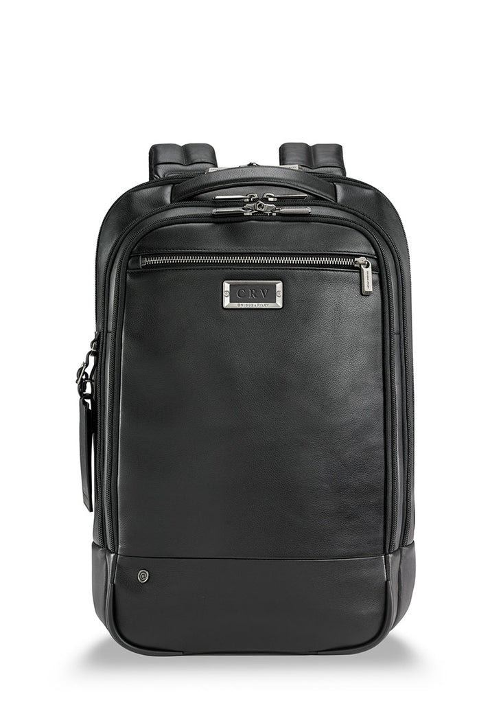 Briggs & Riley @Work Medium Leather Backpack - London Luggage