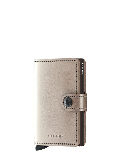 Secrid Miniwallet Metallic Champagne Brown - London Luggage