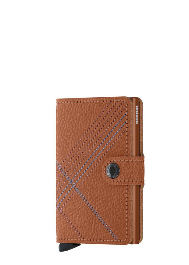 Secrid Miniwallet Stitch Linea Caramello - London Luggage