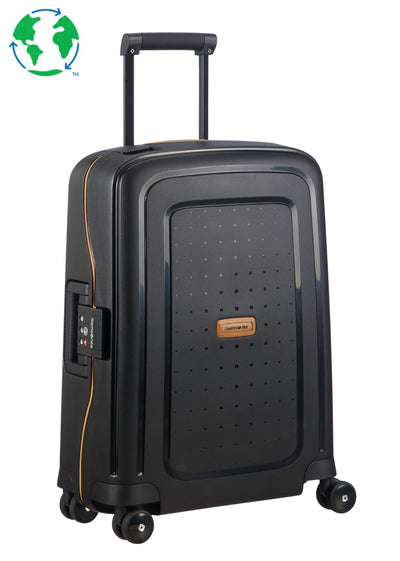 Samsonite S'Cure ECO Cabin Spinner Black - London Luggage