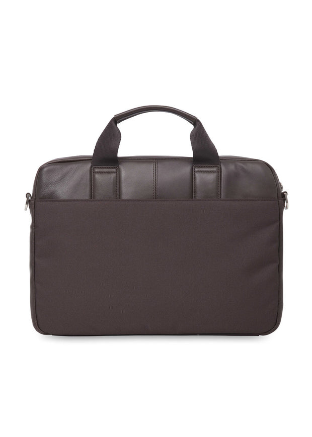 "Knomo Brompton Classic Stanford 13"" Small Leather Briefcase - London Luggage"