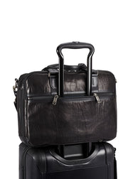 Tumi Alpha Bravo Albany Slim Commuter Leather Brief - London Luggage