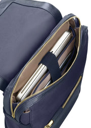 Zalia Rectangular Backpack Dark Blue