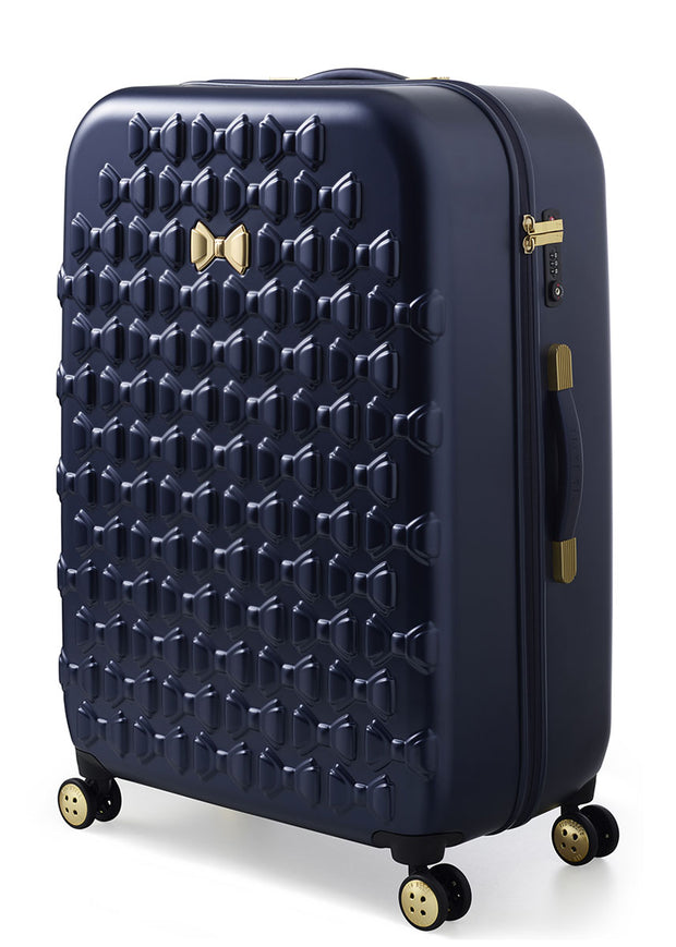 Ted Baker Beau 4 Wheel Large Case Navy - London Luggage