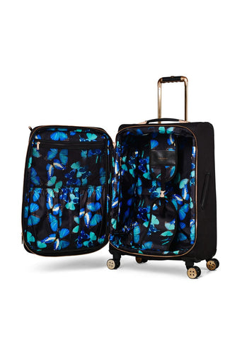Ted Baker Albany 4 Wheel Medium Trolley Black - London Luggage