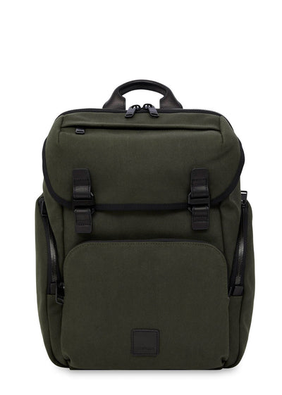 "Knomo Fulham Thurloe 15"" Backpack Green - London Luggage"