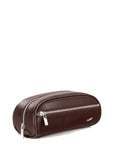 Vocier F12 Leather Dopp Kit Brown - London Luggage