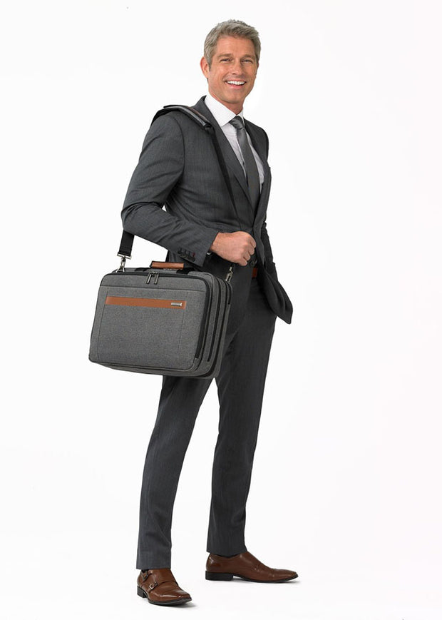 Briggs & Riley Kinzie Street Medium Expandable Brief Grey - London Luggage