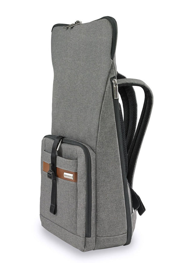 Briggs & Riley Kinzie Street Medium Foldover Backpack Grey - London Luggage