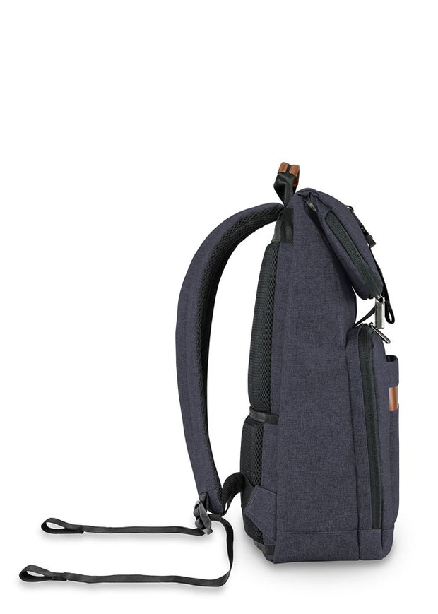 Briggs & Riley Kinzie Street Medium Foldover Backpack Navy - London Luggage