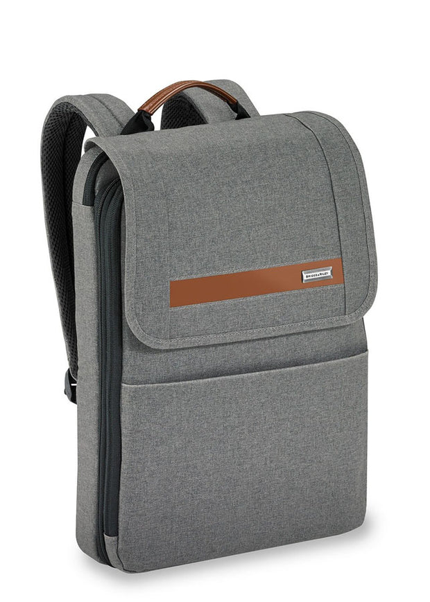 Briggs & Riley Kinzie Street Slim Expandable Backpack Grey - London Luggage
