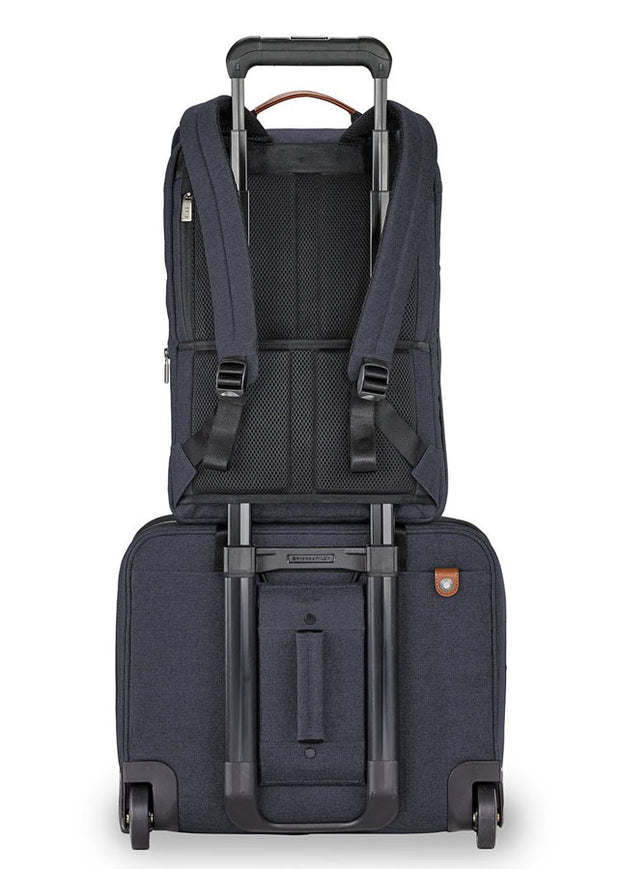 Briggs & Riley Kinzie Street Slim Expandable Backpack Navy - London Luggage