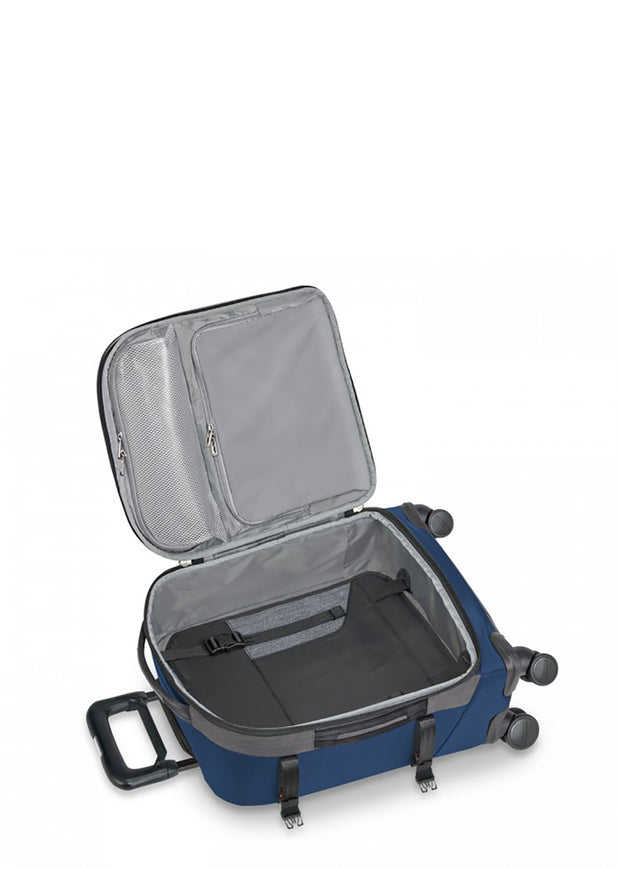 Briggs & Riley BRX Explore Domestic Carry-On Expandable Spinner Blue - London Luggage