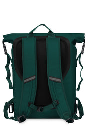 "Knomo Thames Cromwell 15"" Roll Top Backpack Alpine Green - London Luggage"
