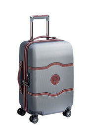 Delsey Chatelet Air 55 cm 4 double wheels cabin trolley case Silver - London Luggage