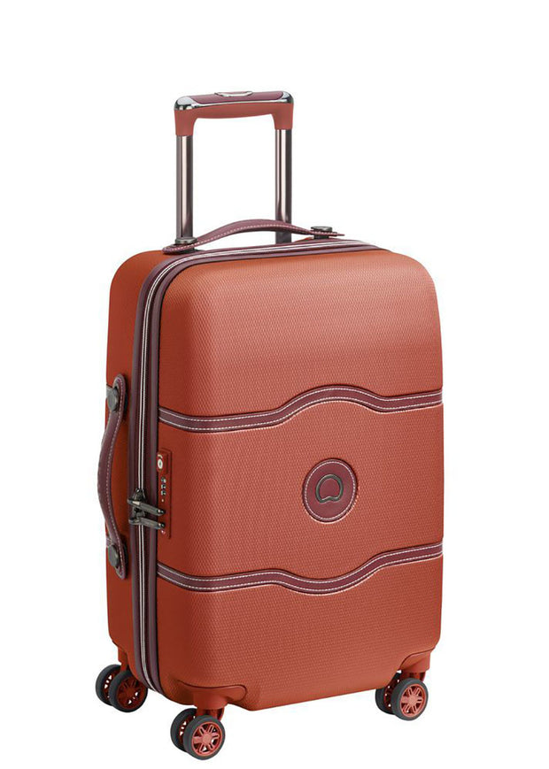 Delsey Chatelet Air 55 cm 4 double wheels cabin trolley case Terracotta - London Luggage