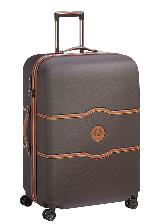 Delsey Chatelet Air 77cm 4 double wheels trolley case Chocolate - London Luggage