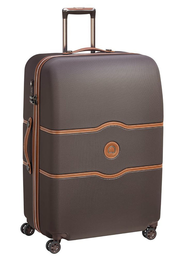 Delsey Chatelet Air 82cm 4 double wheels trolley case Chocolate - London Luggage
