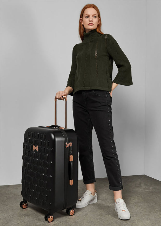 Ted Baker Beau 4 Wheel Medium Case Black - London Luggage