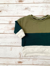 Pine Colorblock Baggy Pullover