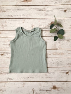 Sea Glass Ribbed Tank Top