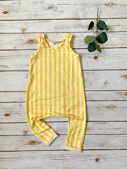 Mustard Game Day Tank Romper