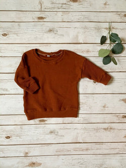 Rust Waffle Baggy Pullover