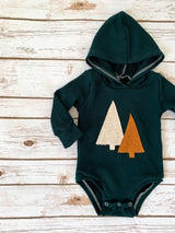 Pine Trees Hooded Bodysuit