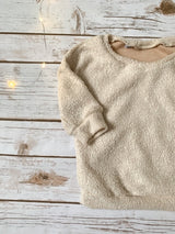 Fuzzy Oatmeal Baggy Pullover