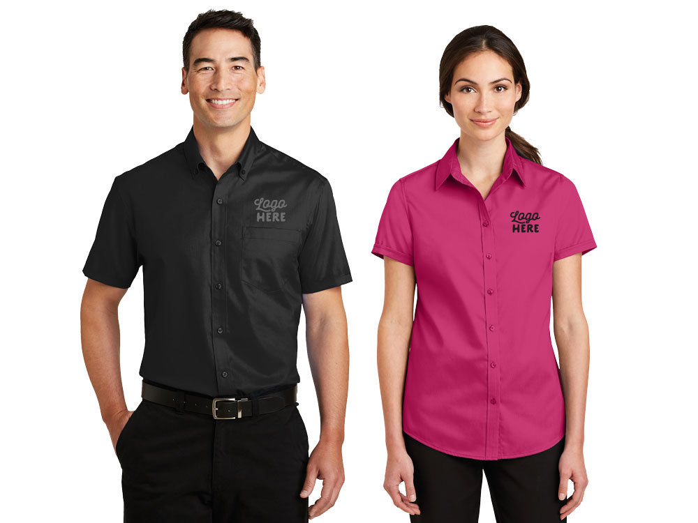 Port Authority Short Sleeve SuperPro Twill Shirt - WUE INC