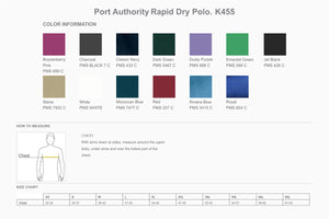 Port Authority Rapid Dry Polo. K455 - WUE INC