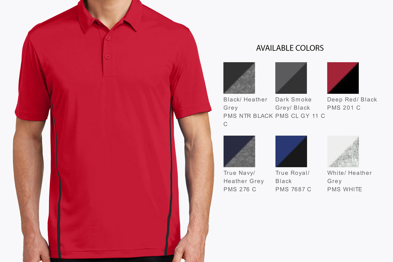 Sport-Tek Contrast PosiCharge Tough Polo. ST620 - WUE INC