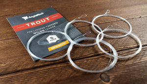 Anglatech Fly Fishing Leader Line 7.5ft 9ft 5 Pack Pre-Looped Nylon