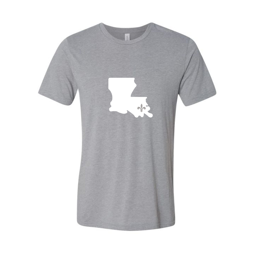 Louisiana with Fleur de Lis Tee